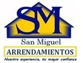 ARRENDAMIENTOS SAN MIGUEL