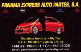 RASTRO PANAMA EXPRESS AUTO PARTES S.A