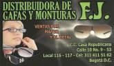 DISTRIBUIDORES DE GAFAS Y MONTURAS FJ