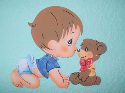 Bebitas en foami con moldes - Imagui