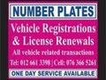 NUMBER PLATES & VEHICLE REGISTRATIONS & LICENSING
